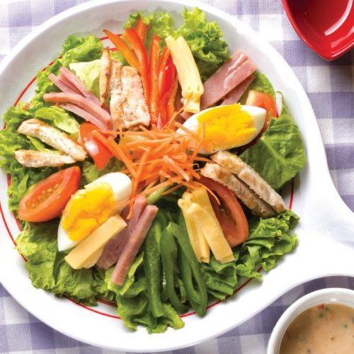 Red Platter Blue Ribbon Salad