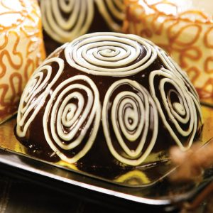 Red Platter Choco Dome Cake