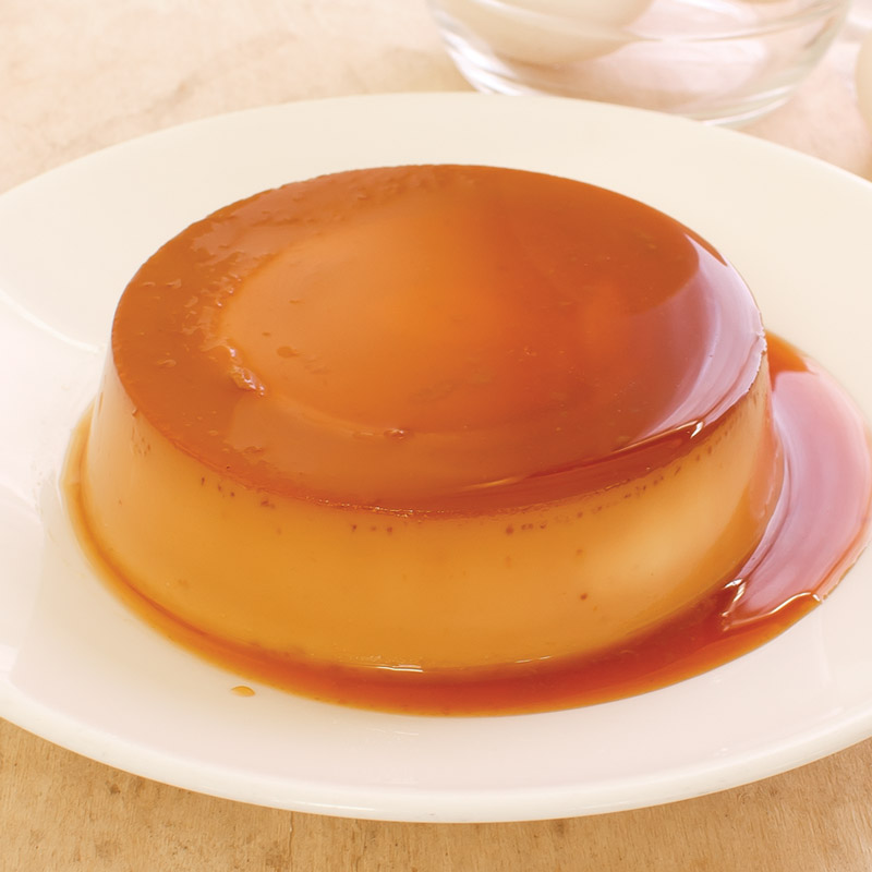 Red Platter Creamy Lache Flan