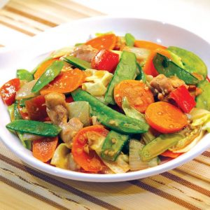 Red Platter Stir-fried Veggies