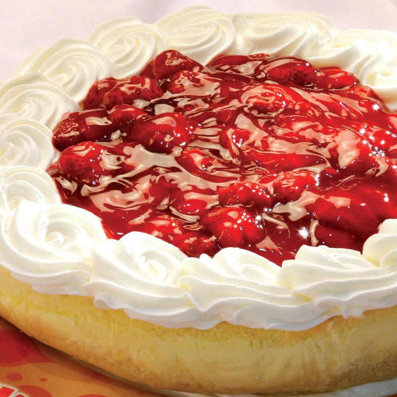 Red Platter Strawberry Cheesecake