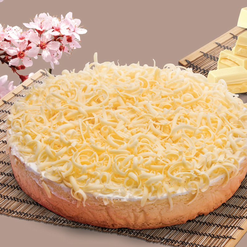 Red Platter White Chocolate Cheesecake
