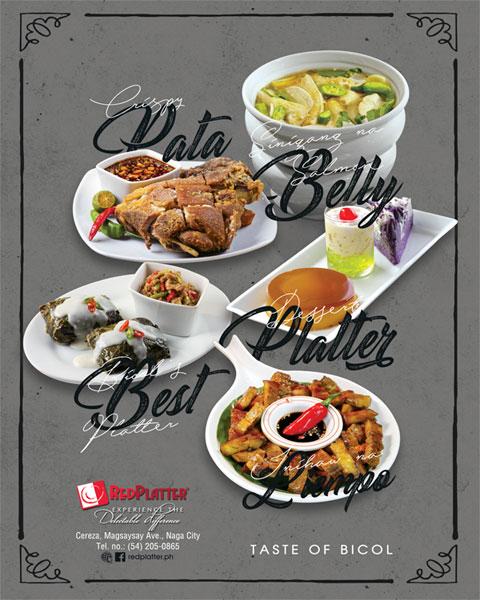 Red Platter Menu Brochure